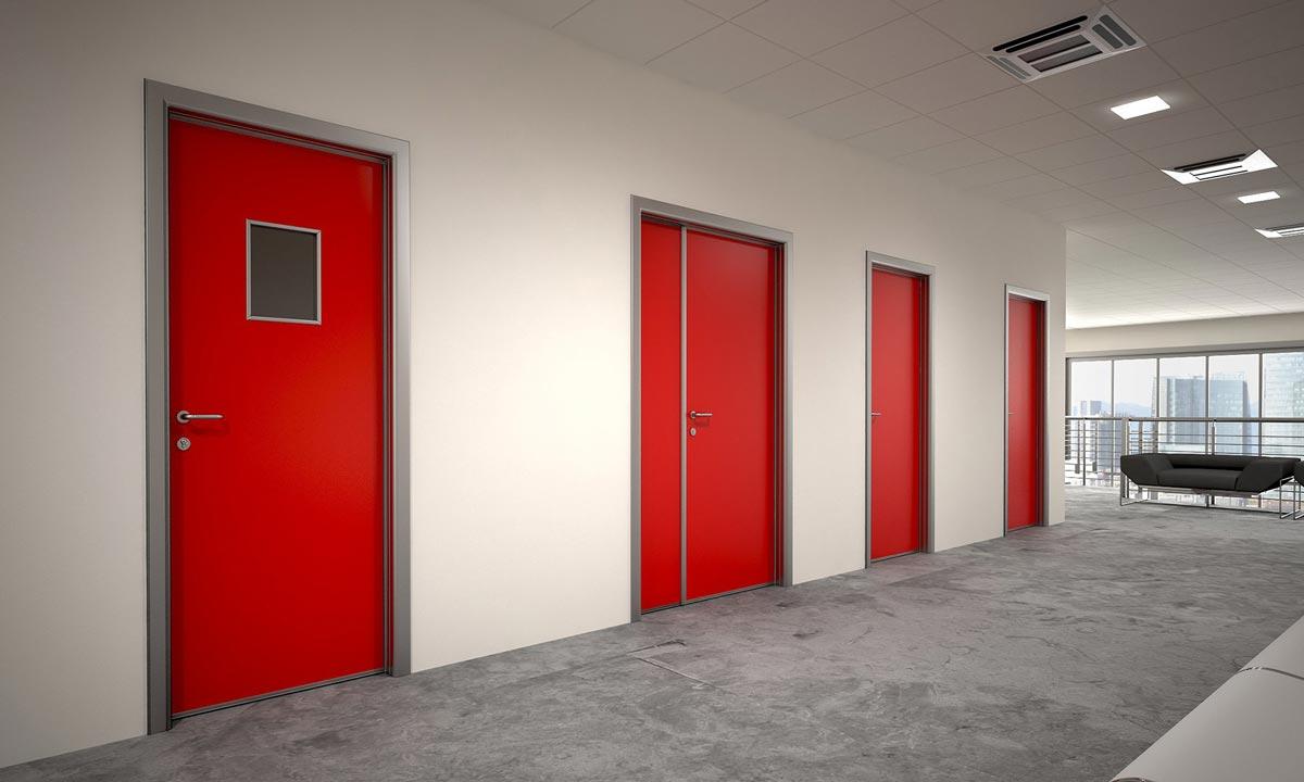 Противопожарные двери в интерьере