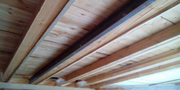 Укрепление потолка швеллером